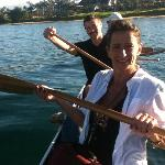 on our Outrigger canoe excursion! Fun!!