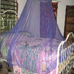 Bed with pretty mosquito net