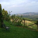 idyllischer Blick in die Hügellandschaft der Toskana