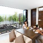 Waterfall Villa - Breakfast Served in the Living Room