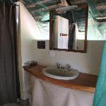 Washbasin in dressing area.
