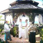 our wedding in gazebo
