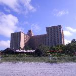 View of teh hotel from the beach