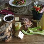 Not so much a Ploughman's lunch - more a work of art! And tasted as good as it looks.