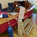 ein echtes Segelboot