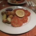 The Schnitzel was well cooked