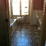 Bathroom with old tile