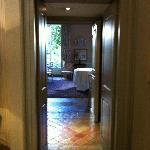 Hallway into salon