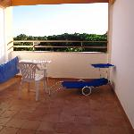 Balcony, with Franco's lounger