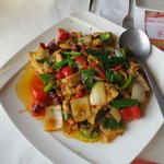 Szechuan dish with chicken