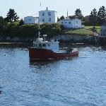 Fishermen bringing home their catch
