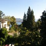 Partial lake view of Lago Maggiore, Rm. 23's balcony, Hotel Fontana, Stresa, Italy