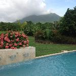 Mt. Nevis from plunge pool.