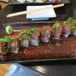 Try this beef sushi maki roll...spicy and delicious