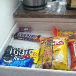 Snacks were replenished every day
