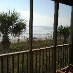 beach view from screened porch 2nd floor dunes