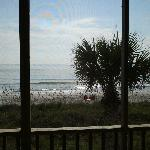 View of beach straight out from 2nd floor dunes