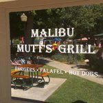Malibu Mutts front with with the Country Mart in reflection