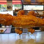 Huge sour dough crocodile at Boudin