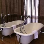 Dual bathtubs