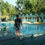 at Racso's poolside