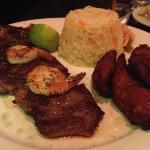 skirt steak & shrimp