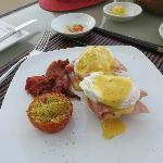 Egg benedict from breakfast menu - all you can eat