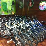 Bikes at their office