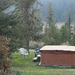 Hot tub at the cabins