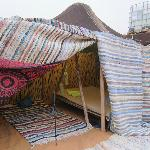 Our Berber tent - but sleep under the stars!