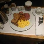 Breakfast room service.....too bad I was in such a rush