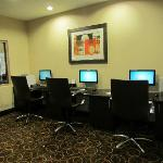 Computer work area for guests