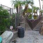 Stairs from pool area
