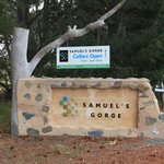 Welcome sign to Samuel's Gorge Cellar Door