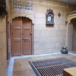 tastefully decorated lobby of sagar guest house