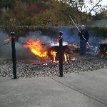 Fish boil in Fish Creek