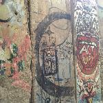 Section of Berlin Wall that faced the West