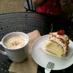 Chai Tea and Coconut cake