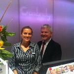 Welcoming, Organized staff-Manager Gary and front desk Marina