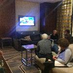 Comfortable Lobby-for watching the debates