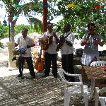 Lunch time band at beach restaurant