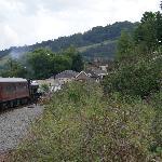 Train entering Matlock