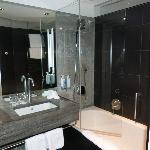 Hotel bathroom - very clean and modern