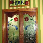 Beautiful bar entrance
