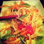 Crisp papaya salad