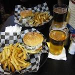 Burgers at Firkin & Fox, Dulles