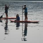 Paddle boarding on Suttle Lake