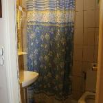 bagno e doccia con tenda