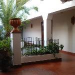 Couloir et terrasse