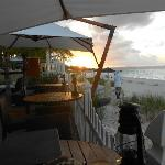 At the Deck - great place to enjoy dinner while watching the sunset